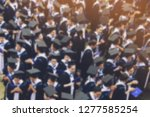 blurred image top view   crowd... | Shutterstock . vector #1277585254