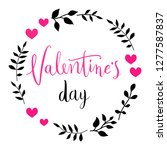 happy valentines day card.... | Shutterstock .eps vector #1277587837