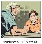 stock illustration. man swears...   Shutterstock .eps vector #1277595187