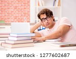 young student preparing for... | Shutterstock . vector #1277602687