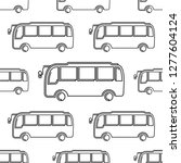 bus icon seamless pattern  bus... | Shutterstock .eps vector #1277604124