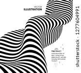black and white design. pattern ... | Shutterstock .eps vector #1277604991