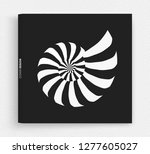 nautilus shell. abstract design ... | Shutterstock .eps vector #1277605027