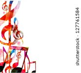 colorful music background.... | Shutterstock .eps vector #127761584