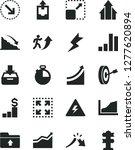 solid black vector icon set  ... | Shutterstock .eps vector #1277620894