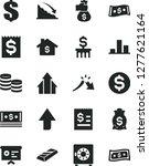 solid black vector icon set  ... | Shutterstock .eps vector #1277621164