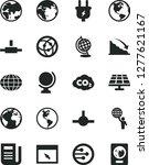 solid black vector icon set  ... | Shutterstock .eps vector #1277621167