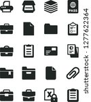 solid black vector icon set  ... | Shutterstock .eps vector #1277622364