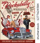 rockabilly retro poster.  | Shutterstock .eps vector #1277624584