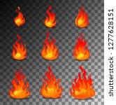 cartoon fire animation design...