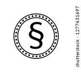 paragraph icon emblem  label ...   Shutterstock .eps vector #1277631697