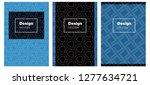 dark blue vector brochure for... | Shutterstock .eps vector #1277634721