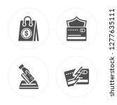 4 bag  debit payment  cit card  ... | Shutterstock .eps vector #1277635111