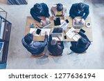 top view.  business team using... | Shutterstock . vector #1277636194