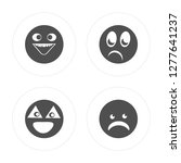 4 happy  nerd  shocked  shocked ... | Shutterstock .eps vector #1277641237