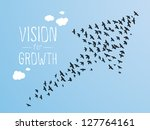 growth and vision illustration  ... | Shutterstock .eps vector #127764161