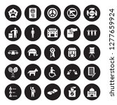 25 vector icon set   political... | Shutterstock .eps vector #1277659924