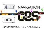 road  cars  navigator mark. the ... | Shutterstock .eps vector #1277663617