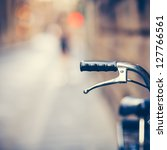 detail of a vintage bicycle... | Shutterstock . vector #127766561