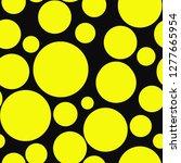 yellow circles on black... | Shutterstock . vector #1277665954
