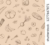 seamless pattern vegetarian...