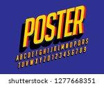 vector of stylized modern font... | Shutterstock .eps vector #1277668351