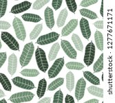 tropical background with hand... | Shutterstock .eps vector #1277671171
