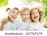low angle view portrait of... | Shutterstock . vector #127767179