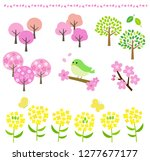 spring landscape such as cherry ... | Shutterstock .eps vector #1277677177