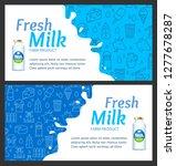 fresh milk banner horizontal... | Shutterstock .eps vector #1277678287