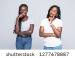 portriat of two negative...   Shutterstock . vector #1277678887