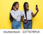 portrait of two african girls...   Shutterstock . vector #1277678914