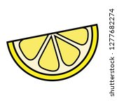 cartoon slice of lemon | Shutterstock .eps vector #1277682274