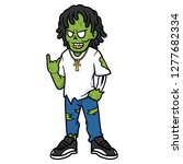 cartoon cool zombie with... | Shutterstock .eps vector #1277682334