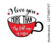 beautiful love quote with... | Shutterstock .eps vector #1277689747