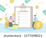 year end tax adjustment... | Shutterstock .eps vector #1277698021