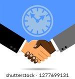 handshake of black and white... | Shutterstock .eps vector #1277699131