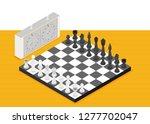 flat chess isometric. game... | Shutterstock .eps vector #1277702047