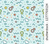 seamless pattern with men and...   Shutterstock .eps vector #1277703124