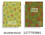 modern cover design with leaf... | Shutterstock .eps vector #1277705881