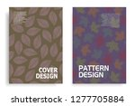 modern cover design with leaf... | Shutterstock .eps vector #1277705884