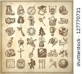 sketch doodle icon collection ... | Shutterstock . vector #127770731