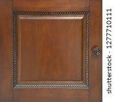 classic brown mahogany door... | Shutterstock . vector #1277710111