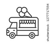 ice cream truck vector  food... | Shutterstock .eps vector #1277717554
