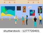 art gallery. people regarding...   Shutterstock .eps vector #1277720401