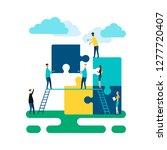 business concept. team metaphor....   Shutterstock .eps vector #1277720407