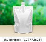 mockup pouch sachet stand up... | Shutterstock .eps vector #1277726254