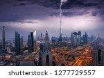 dramatic dubai sunset panoramic ... | Shutterstock . vector #1277729557