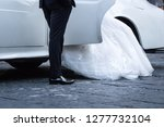 close up of the legs of a bride ... | Shutterstock . vector #1277732104