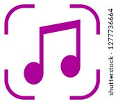 musical icon vector in focus.... | Shutterstock .eps vector #1277736664